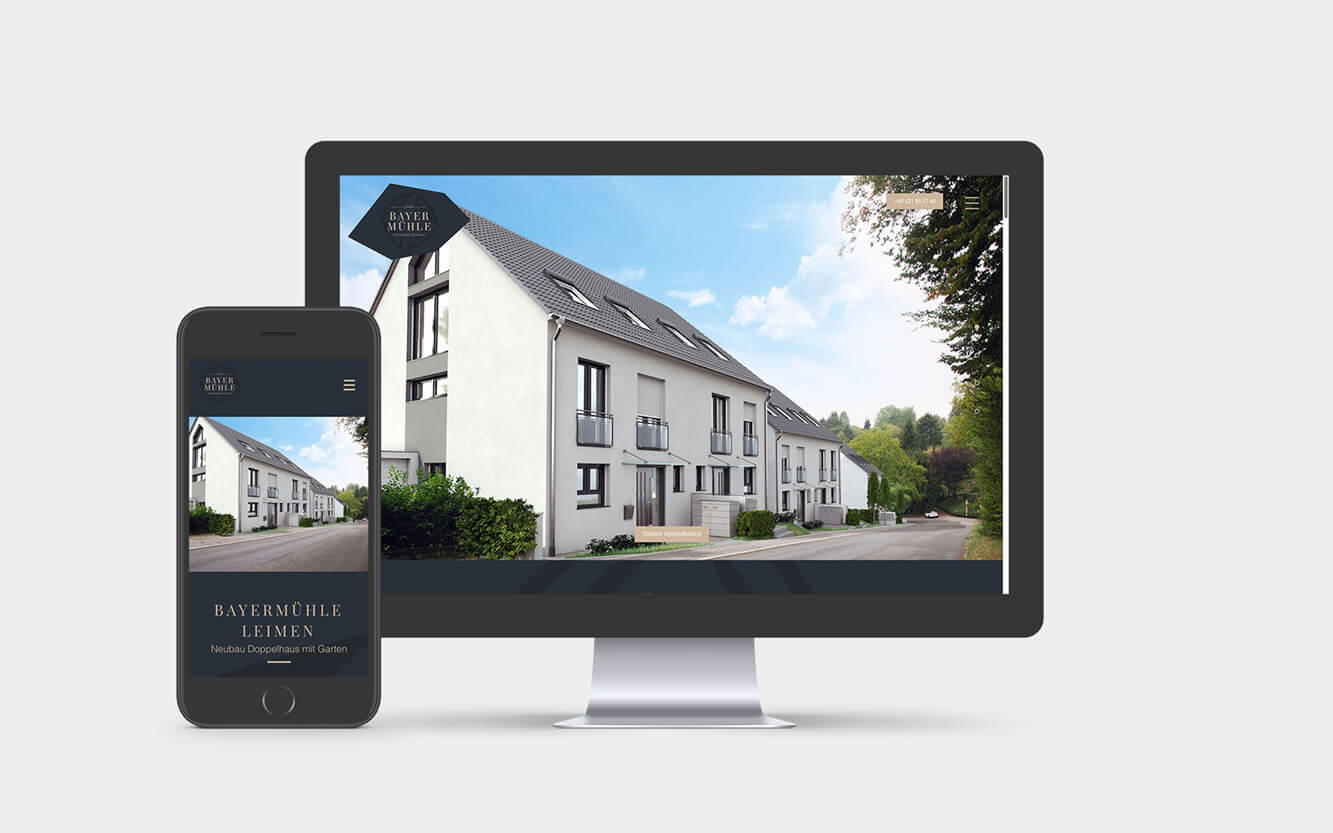 Webdesign Immobilien Neubau