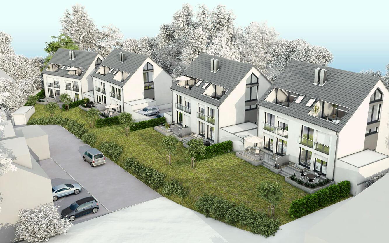 3D Häuser Bayermühle Leimen